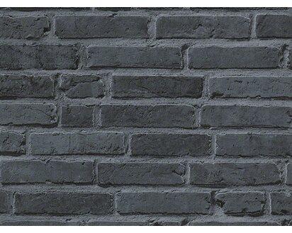 A.S. Creation Vliestapete Ziegelstein Wand Mauer Schwarz