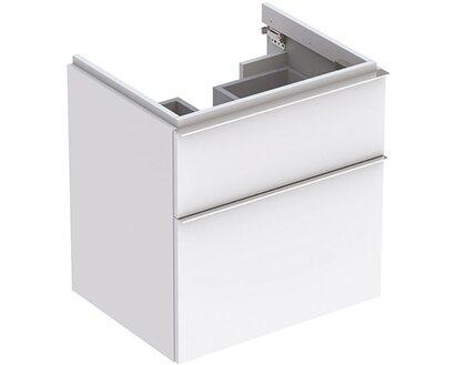 Geberit Waschbeckenunterschrank 59 5 Cm Icon Mit 2 Schubladen Weiss