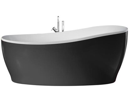 Freistehende Badewanne Aviva 180 Cm X 85 Cm Schwarz Weiß Kaufen Bei Obi