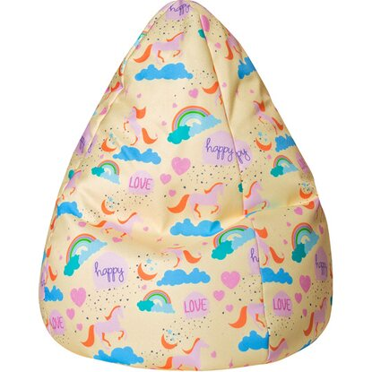 Sitting Point Sitzsack BeanBag Unicorn L 120 l Gelb