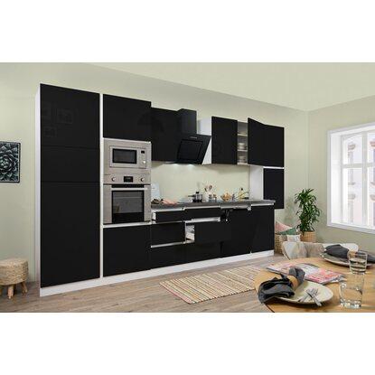 respekta premium k chenzeile grifflos 395 cm schwarz hochglanz wei kaufen bei obi. Black Bedroom Furniture Sets. Home Design Ideas