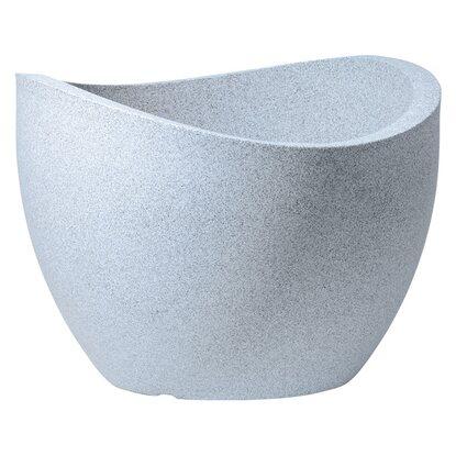 scheurich pflanzgef wave globe 40 cm wei granit kaufen bei obi. Black Bedroom Furniture Sets. Home Design Ideas