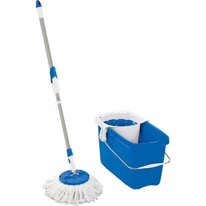 Leifheit Set Clean Twist Disc Mop Pure Blue