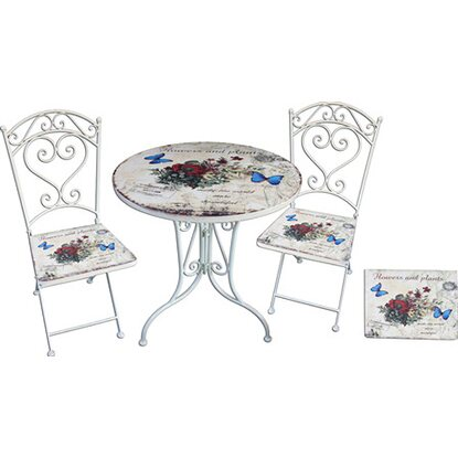 Garden Pleasure Bistro-Set Floral 3-teilig