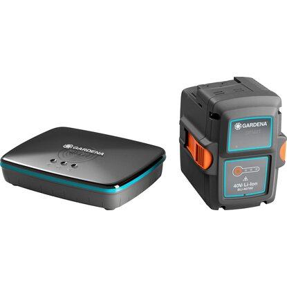 gardena smart battery bli 40 100 set mit smart gateway. Black Bedroom Furniture Sets. Home Design Ideas