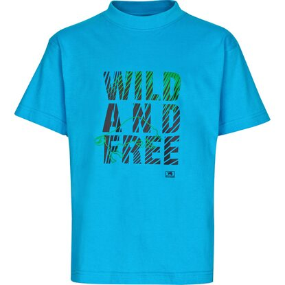 Bullstar Kinder-T-Shirt Wild and Free Blau Gr. 122/128
