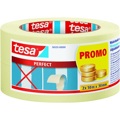 Tesa Malerband Perfect Doppelpack 2 x 50 m x 30 mm