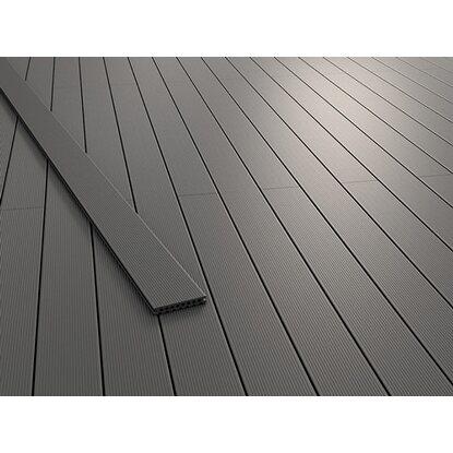kovalex wpc terrassendiele massiv mit struktur graubraun 2 x 14 5 cm x 300 cm kaufen bei obi. Black Bedroom Furniture Sets. Home Design Ideas