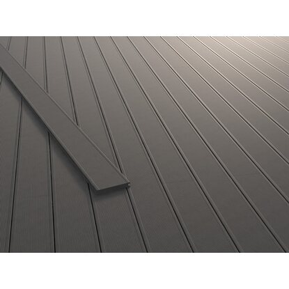 kovalex terrassendiele wpc massiv 2 cm x 14 5 cm x 300 cm grau kaufen bei obi. Black Bedroom Furniture Sets. Home Design Ideas
