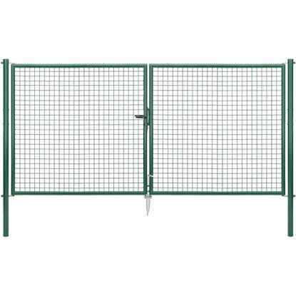 Doppeltor für Maschendraht- und Fix-Clip Pro-Zaun Grün 150 cm x 300 ...