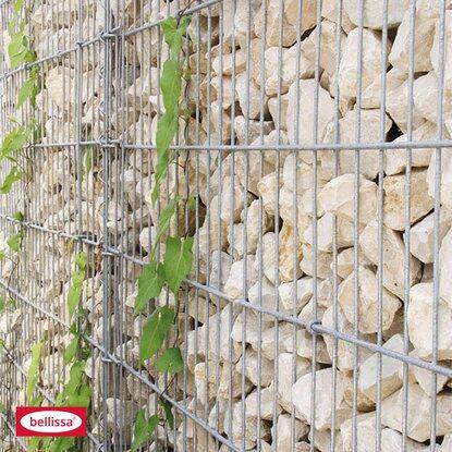 bellissa gabionen mauer limes mit kalkstein f llung 115 cm x 23 cm x 210 cm kaufen bei obi. Black Bedroom Furniture Sets. Home Design Ideas