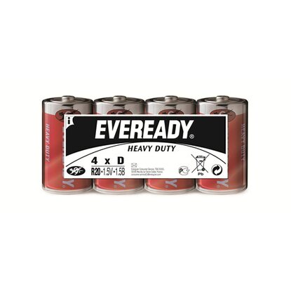 Eveready Heavy Duty Kohle-Zink Batterie Mono D 4 Stück