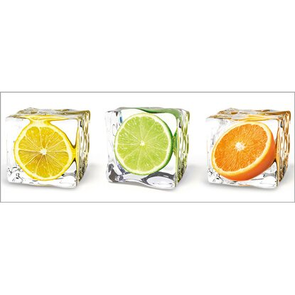 Eurographics Deco Glass Fruits In Cubes 80 cm x 30 cm