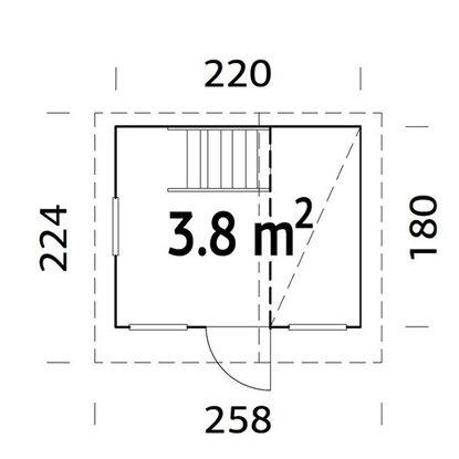 palmako spielhaus tom 180 cm x 180 cm fichte natur kaufen bei obi. Black Bedroom Furniture Sets. Home Design Ideas