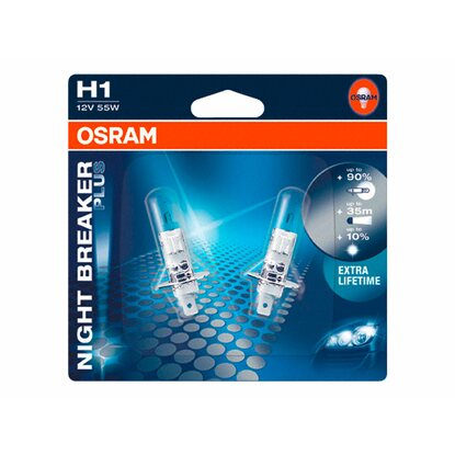 Osram H1 Halogen-Scheinwerferlampe Night Breaker Plus 2er-Set