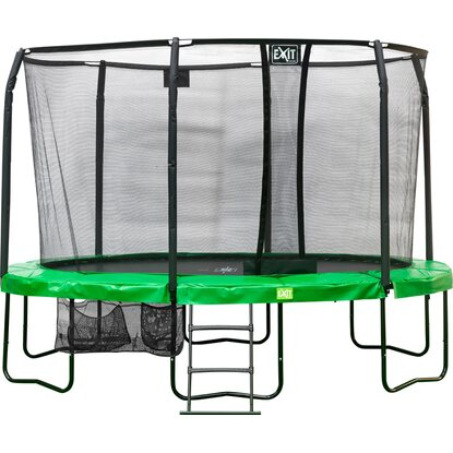 Exit Trampolin JumpArenA Oval All-in-1 Grün 244 cm x 380 cm