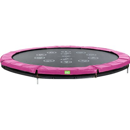 Exit Trampolin Twist Ground Rosa-Grau Ø 366 cm