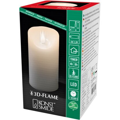 konstsmide led echwachskerze 3d flamme h he 13 5 cm timer. Black Bedroom Furniture Sets. Home Design Ideas