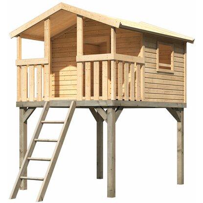 karibu stelzenhaus charlotte mit sandkasten und rutsche 3099 x 198 x 243 cm kaufen bei obi. Black Bedroom Furniture Sets. Home Design Ideas