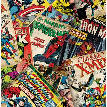 Graham & Brown Tapetenmuster Marvel Titelbilder Mehrfarbig