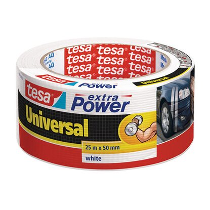 Tesa Extra Power Universal Weiß 25 m x 50 mm