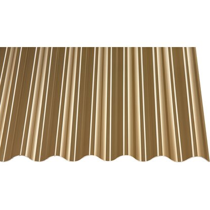 "Acryl-Profilplatte 1,5 mm ""sz"" Sinus 76/18 Bronze 2500 mm x 1045 mm"