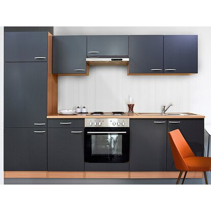 Respekta Küchenzeile Ohne E Geräte Lbkb270Bg 270 Cm Grau Obi