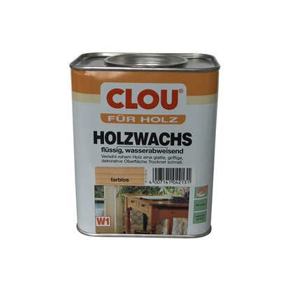 Clou Holzwachs Transparent 750 ml