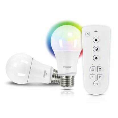 Schwaiger LED-Leuchtmittel-Set RGBW Multicolor Light EEK: A+
