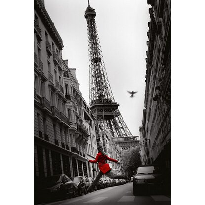 Maxiposter Paris - Red woman 61 cm x 91,5 cm