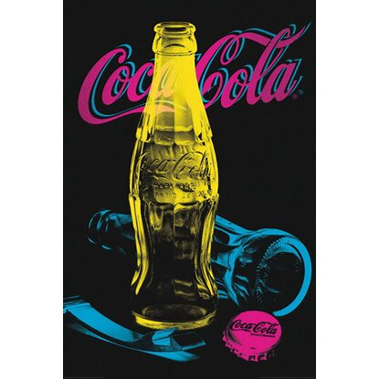Maxiposter Coca-Cola - Black light 61 cm x 91,5 cm