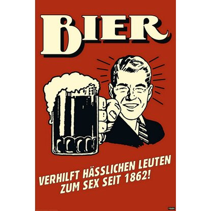 Maxiposter German Retro Spoof - Bier 61 cm x 91,5 cm