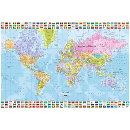 Maxiposter World Map - Political english 61 cm x 91,5 cm