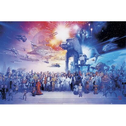 Maxiposter Star Wars - Complete cast 61 cm x 91,5 cm