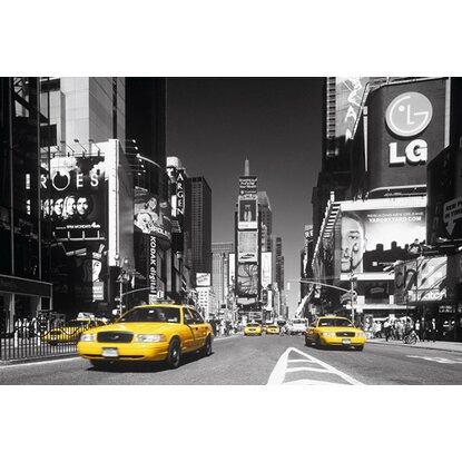 Maxiposter Times Square - Yellow cab 61 cm x 91,5 cm