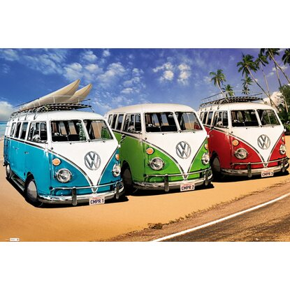 Maxiposter VW Californian Camper - Campers 61 cm x 91,5 cm