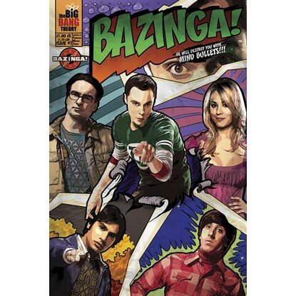Maxiposter The Big Bang Theory - Comic 61 cm x 91,5 cm