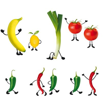 Eurographics Fenstersticker antistatisch Crazy Vegetables