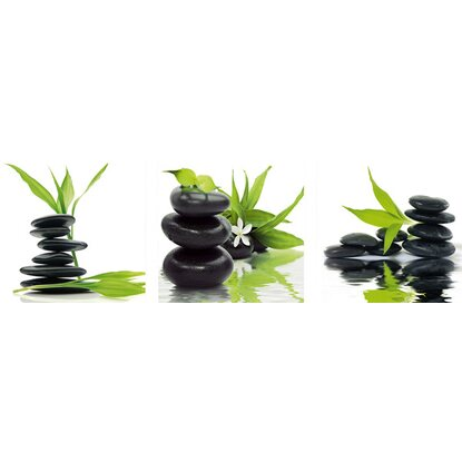Eurographics Wandtattoo 3er-Set Feng Shui Balance in Green