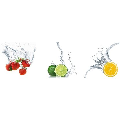Eurographics Wandtattoo 3er-Set Splashing Fruits