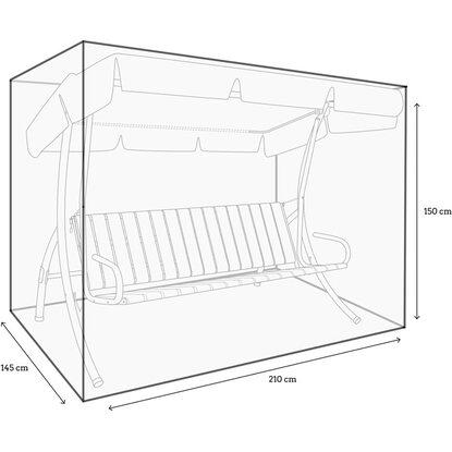 schutzh lle kastenform mit rei verschl ssen f r 3 sitzer hollywoodschaukel kaufen bei obi. Black Bedroom Furniture Sets. Home Design Ideas