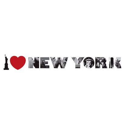 Eurographics Wandtattoo I Love New York I
