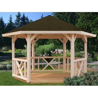 palmako holz pavillon betty natur impr gniert 337 cm x 337 cm ohne fu boden kaufen bei obi. Black Bedroom Furniture Sets. Home Design Ideas