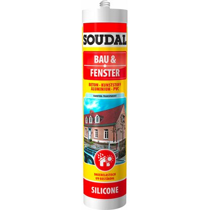 Soudal Bau & Fenster Silikon Transparent 300 ml