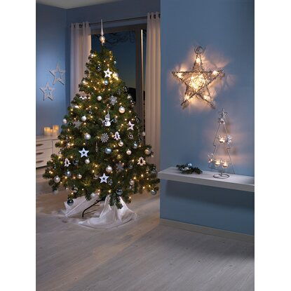 k nstlicher weihnachtsbaum 150 cm mit led beleuchtung. Black Bedroom Furniture Sets. Home Design Ideas