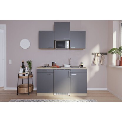 respekta k chenzeile kb150esgmi 150 cm grau eiche s ger u nachbildung kaufen bei obi. Black Bedroom Furniture Sets. Home Design Ideas