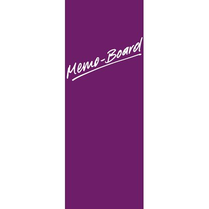 Memoboard Pinnwand Purple 80 cm x 30 cm