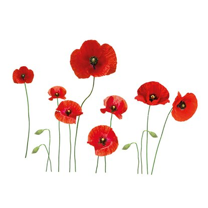 Eurographics Wandtattoo Poppies Family