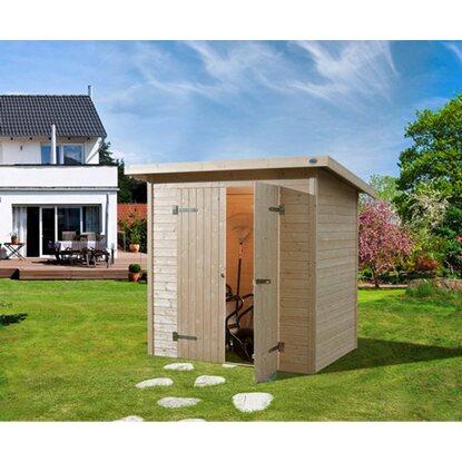 weka holz gartenhaus easy 180 cm x 135 cm mit flachdach. Black Bedroom Furniture Sets. Home Design Ideas