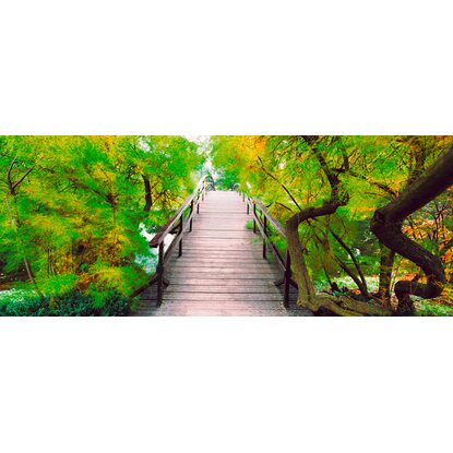 Eurographics Deco Glass Bridge To Greenery 50 cm x 125 cm
